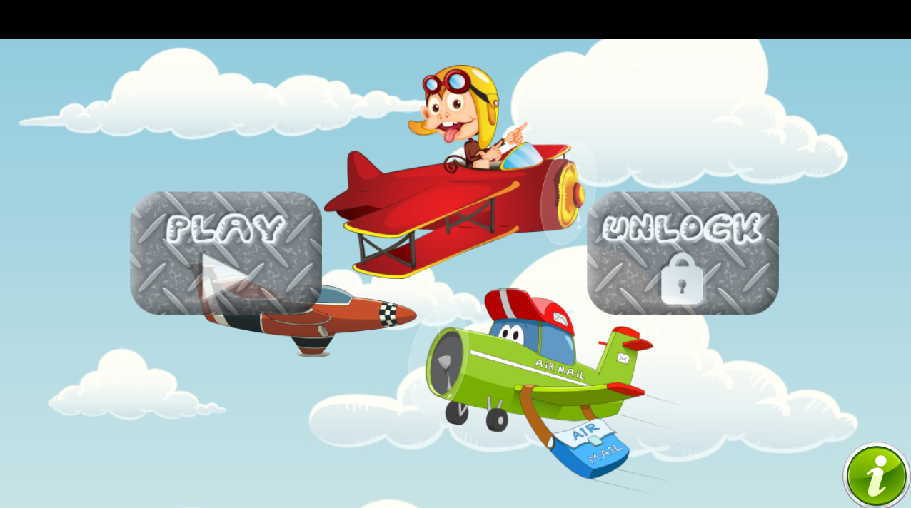 飞机游戏的孩子截图