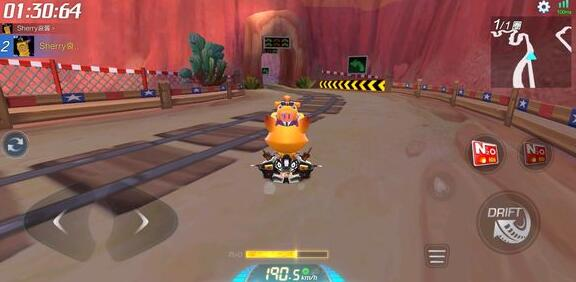 跑跑卡丁车手游矿山曲折滑坡怎么跑进1分35秒