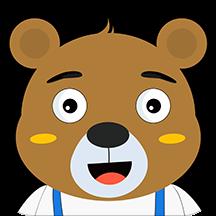罐罐熊练字