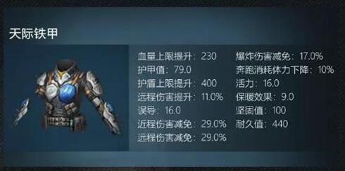 明日之后天際鐵甲怎么做-天際鐵甲制作配方推薦